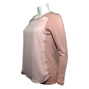 Serena Williams Long Sleeve Blouse Dbl layer Blush